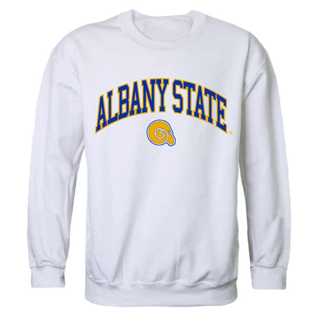 ASU Albany State University Campus Crewneck Pullover Sweatshirt Sweater White