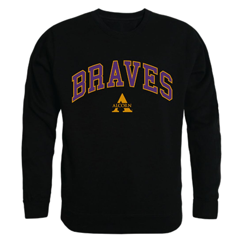 Alcorn State University Campus Crewneck Pullover Sweatshirt Sweater Black