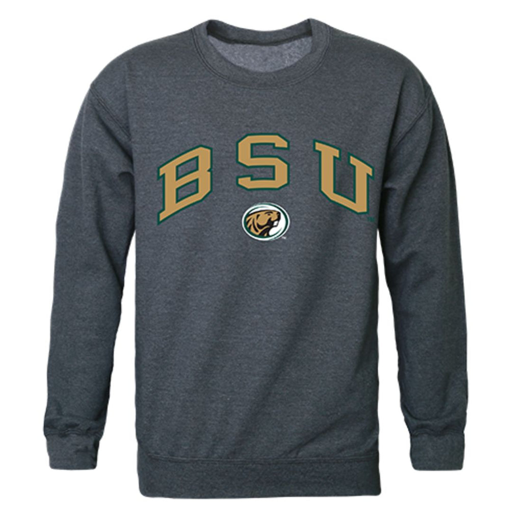 BSU Bemidji State University Campus Crewneck Pullover Sweatshirt Sweater Heather Charcoal