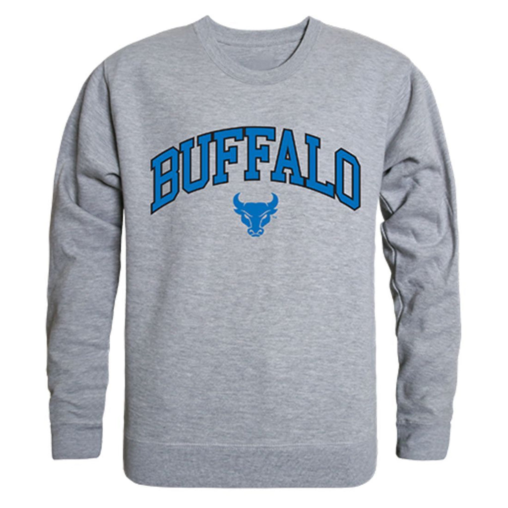 SUNY University at Buffalo Campus Crewneck Pullover Sweatshirt Sweater Heather Grey