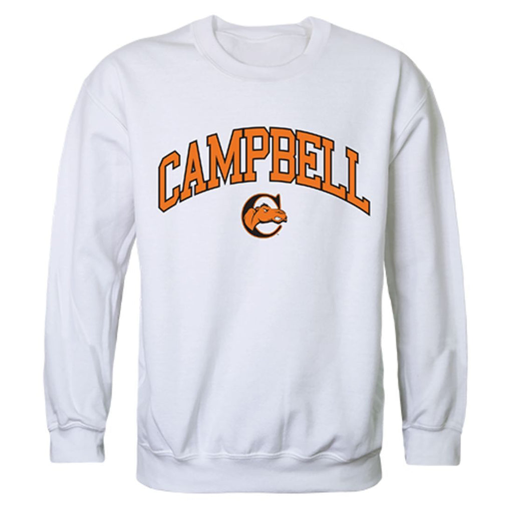 Campbell University Campus Crewneck Pullover Sweatshirt Sweater White