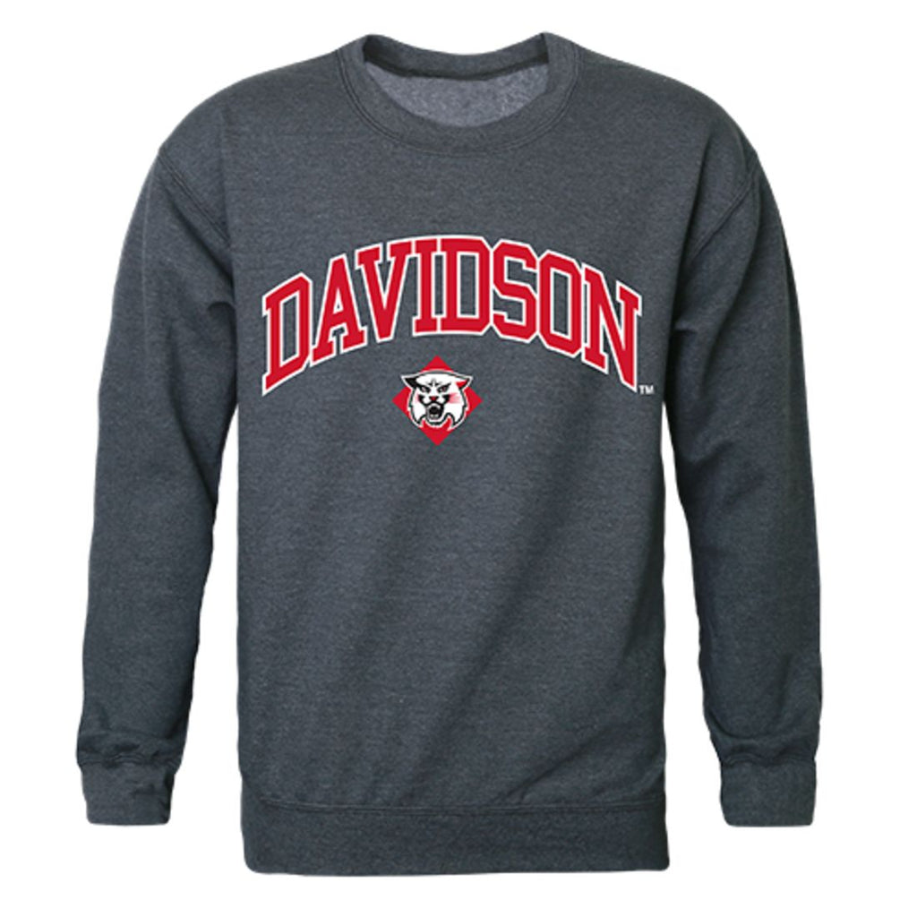 Davidson College Campus Crewneck Pullover Sweatshirt Sweater Heather Charcoal