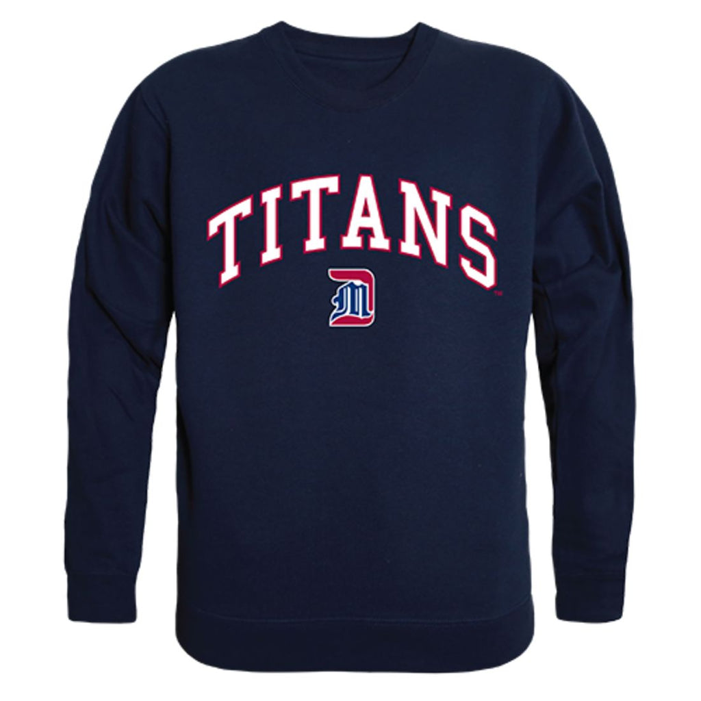 UDM University of Detroit Mercy Campus Crewneck Pullover Sweatshirt Sweater Navy