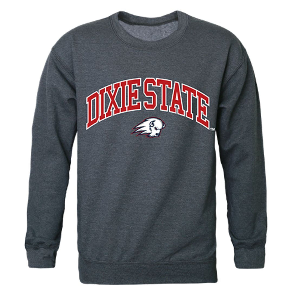 DSU Dixie State University Campus Crewneck Pullover Sweatshirt Sweater Heather Charcoal