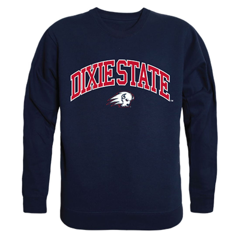 DSU Dixie State University Campus Crewneck Pullover Sweatshirt Sweater Navy