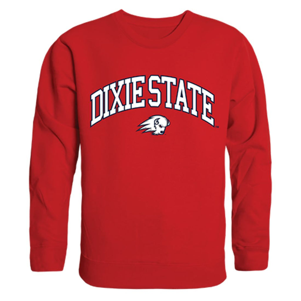 DSU Dixie State University Campus Crewneck Pullover Sweatshirt Sweater Red