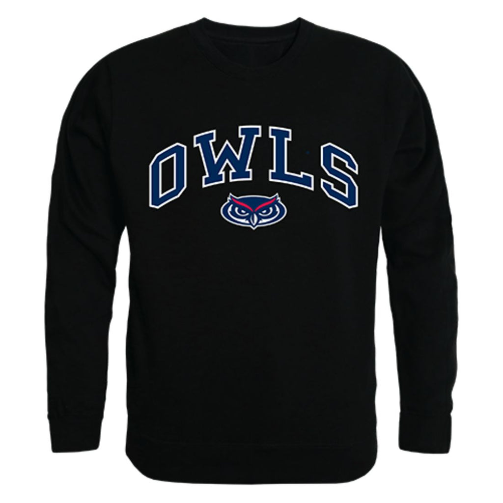 FAU Florida Atlantic University Campus Crewneck Pullover Sweatshirt Sweater Black