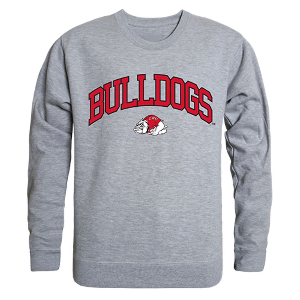 GWU Gardner Webb University Campus Crewneck Pullover Sweatshirt Sweater Heather Grey