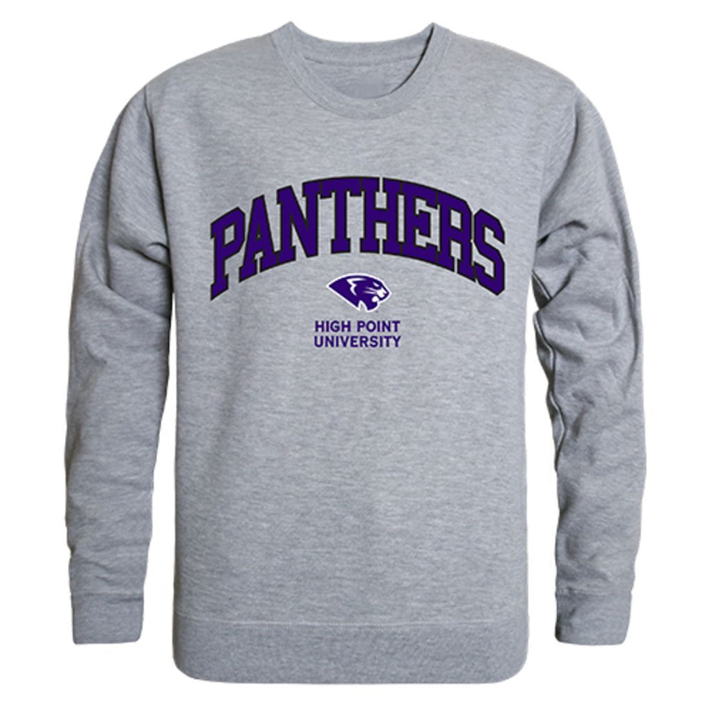 HPU High Point University Campus Crewneck Pullover Sweatshirt Sweater Heather Grey