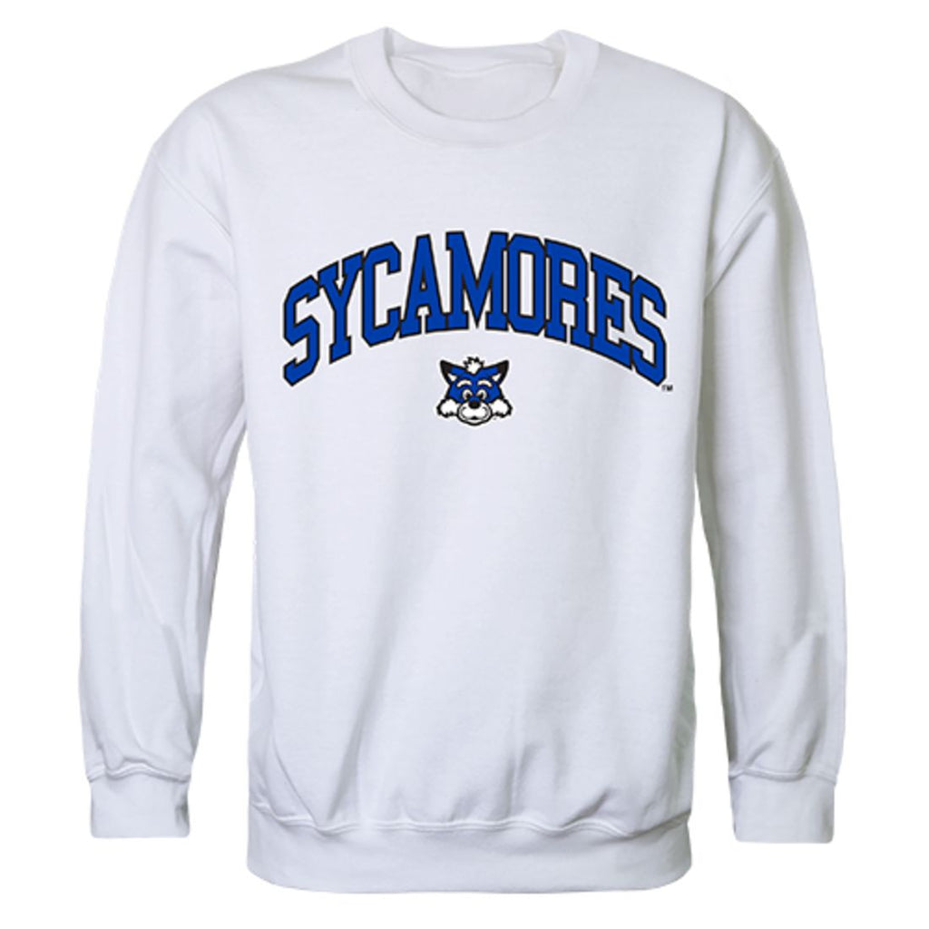 ISU Indiana State University Campus Crewneck Pullover Sweatshirt Sweater White