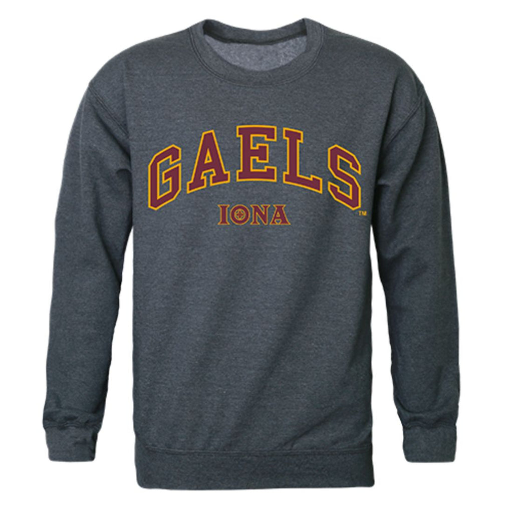 Iona College Campus Crewneck Pullover Sweatshirt Sweater Heather Charcoal