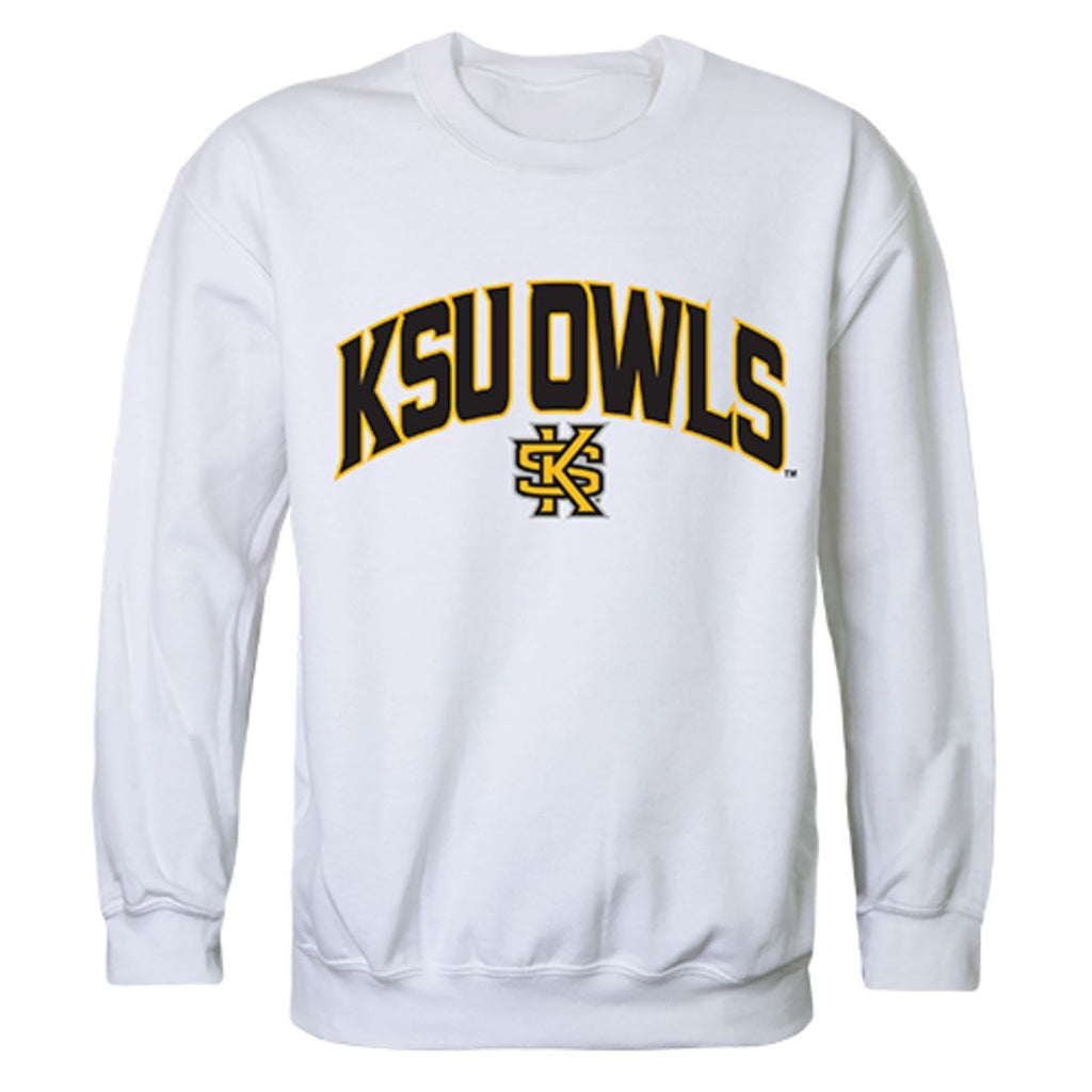 KSU Kennesaw State University Campus Crewneck Pullover Sweatshirt Sweater White
