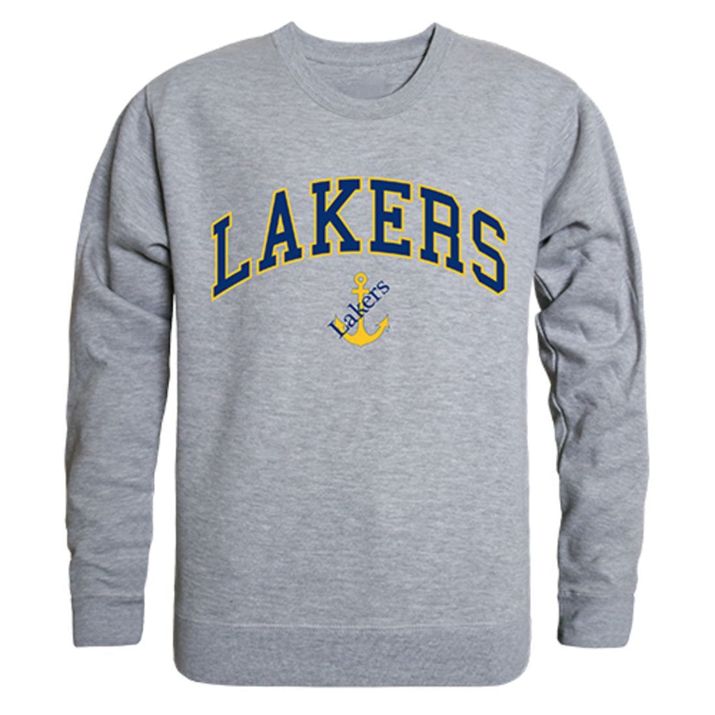 LSSU Lake Superior State University Campus Crewneck Pullover Sweatshirt Sweater Heather Grey
