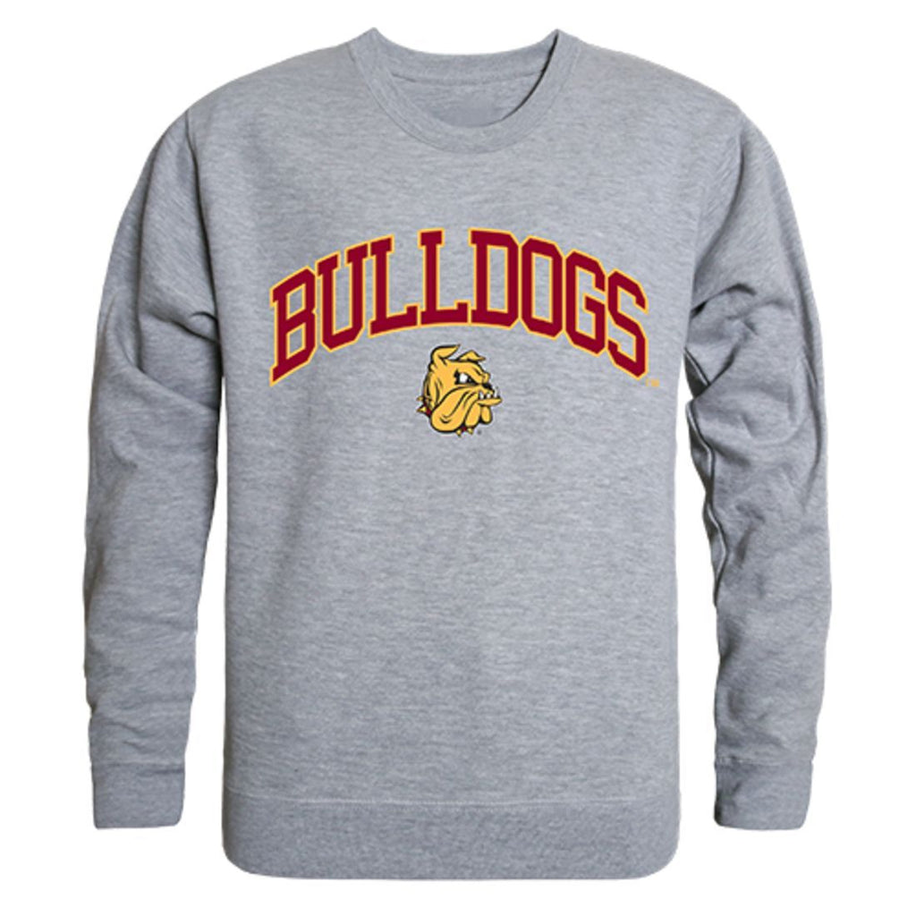 UMD University of Minnesota Duluth Campus Crewneck Pullover Sweatshirt Sweater Heather Grey