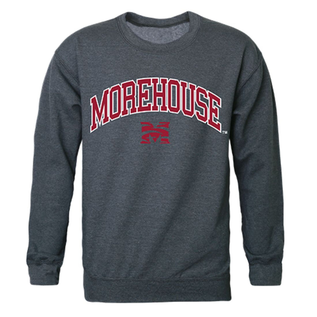 Morehouse College Campus Crewneck Pullover Sweatshirt Sweater Heather Charcoal