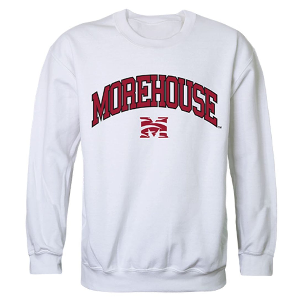 Morehouse College Campus Crewneck Pullover Sweatshirt Sweater White