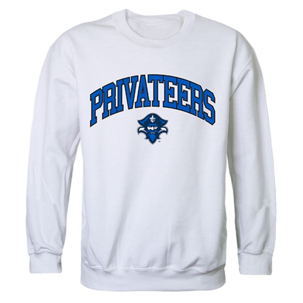 UNO University of New Orleans Campus Crewneck Pullover Sweatshirt Sweater White