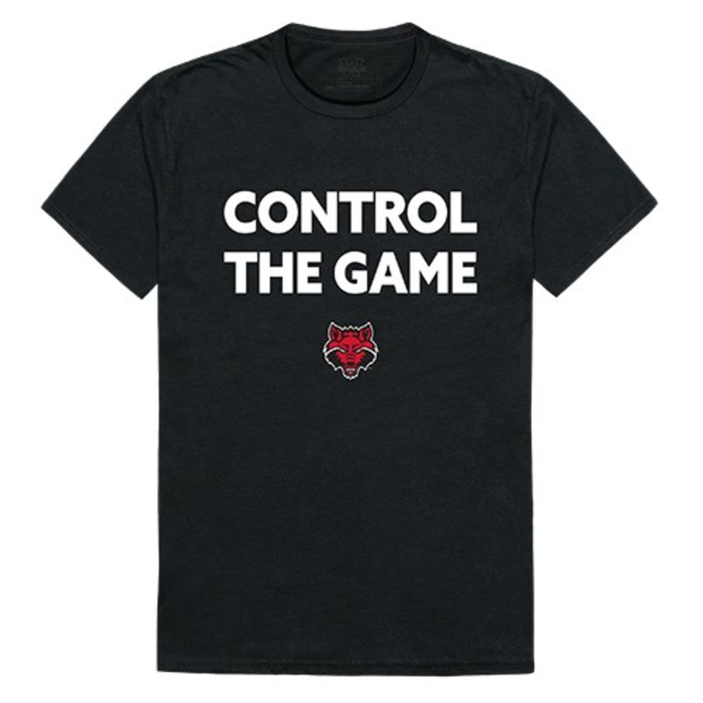 Arkansas State University A-State Red Wolves Control the Game T-Shirt Black