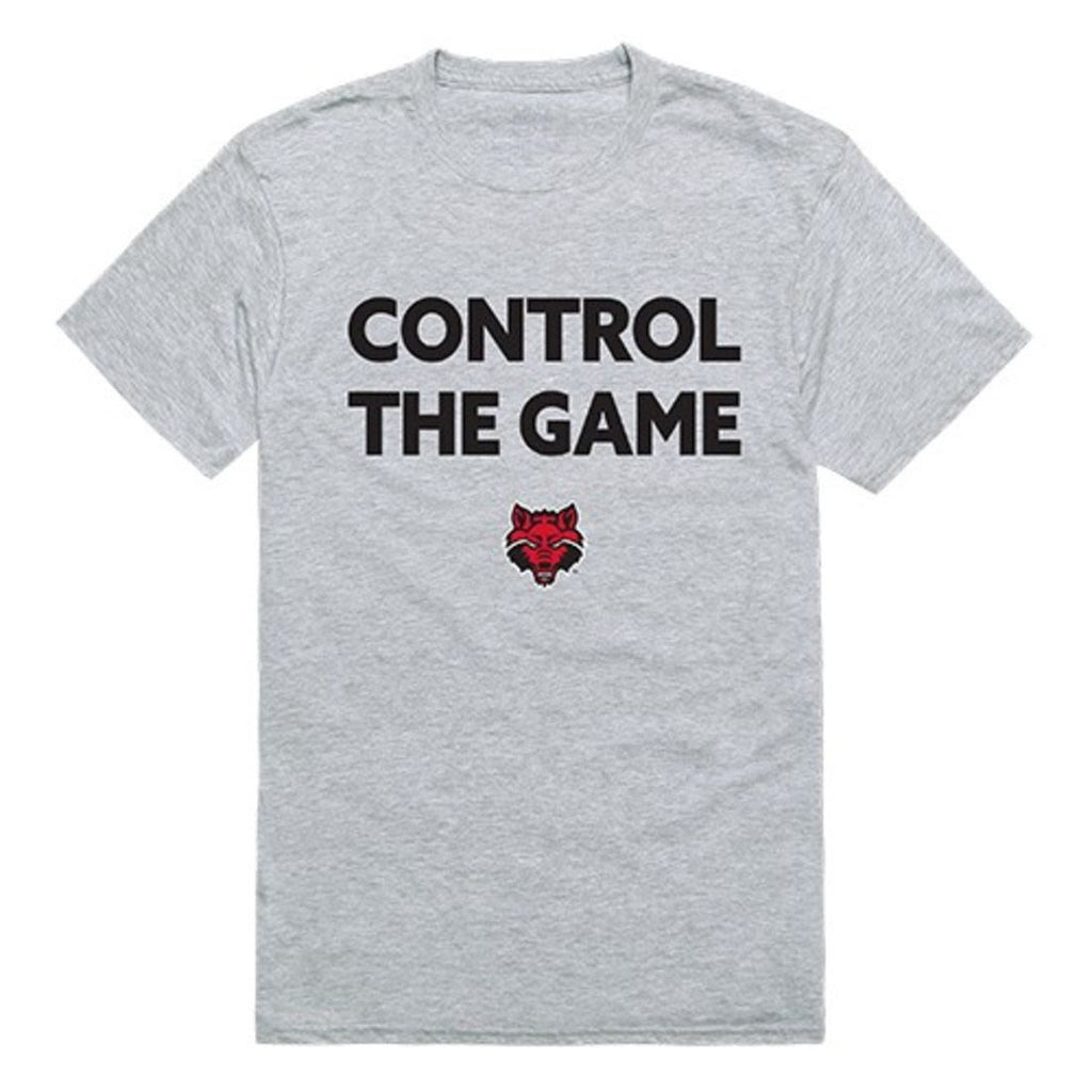 Arkansas State University A-State Red Wolves Control the Game T-Shirt Heather Grey