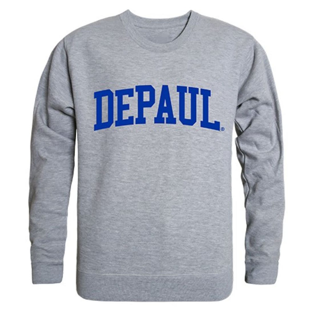 DePaul University Game Day Crewneck Pullover Sweatshirt Sweater Heather Grey