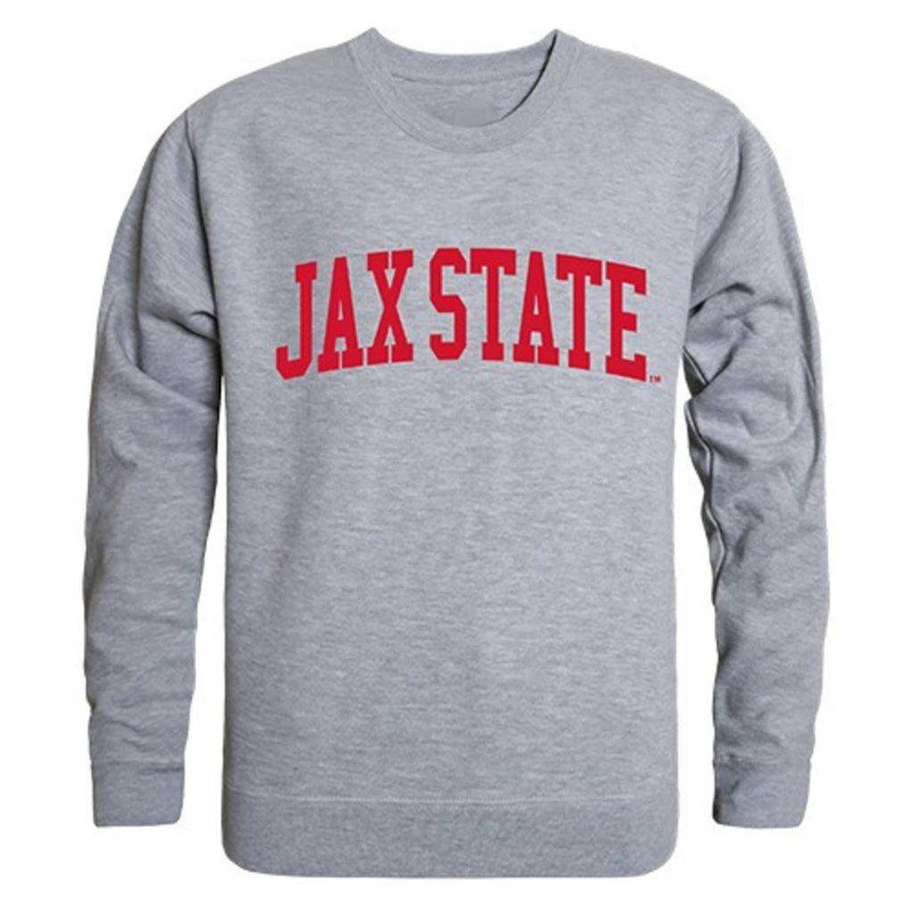 JSU Jacksonville State University Game Day Crewneck Pullover Sweatshirt Sweater Heather Grey