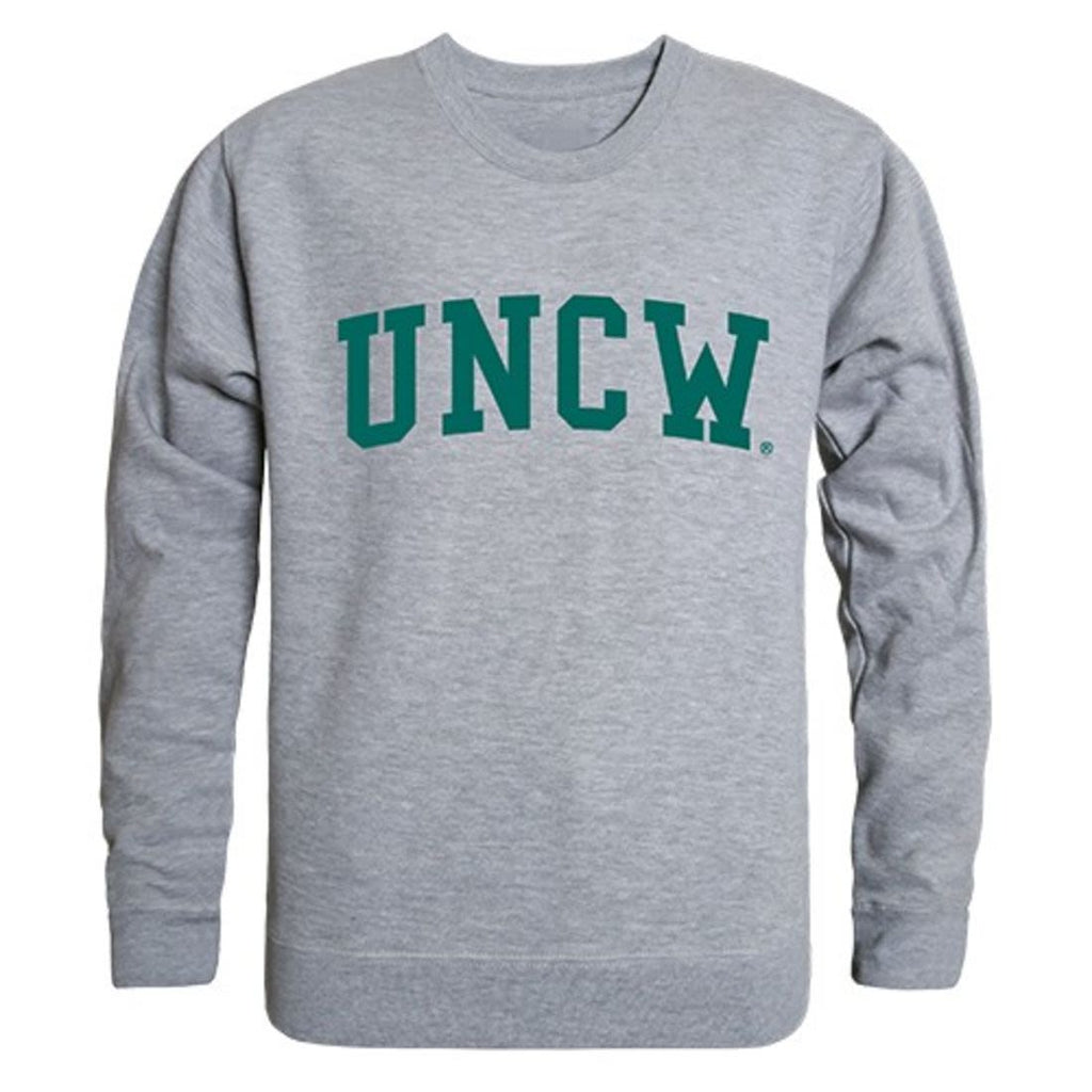 UNCW University of North Carolina Wilmington Game Day Crewneck Pullover Sweatshirt Sweater Heather Grey