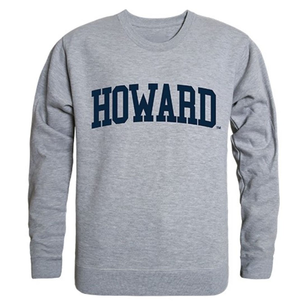 Howard University Game Day Crewneck Pullover Sweatshirt Sweater Heather Grey