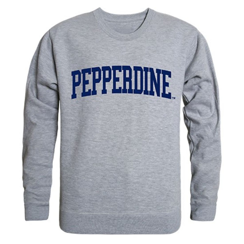 Pepperdine University Game Day Crewneck Pullover Sweatshirt Sweater Heather Grey