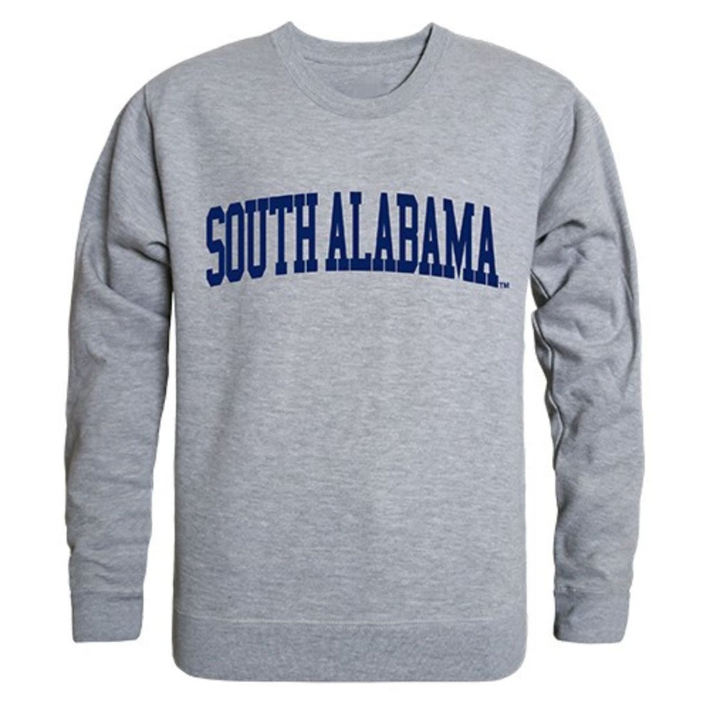 University of South Alabama Game Day Crewneck Pullover Sweatshirt Sweater Heather Grey