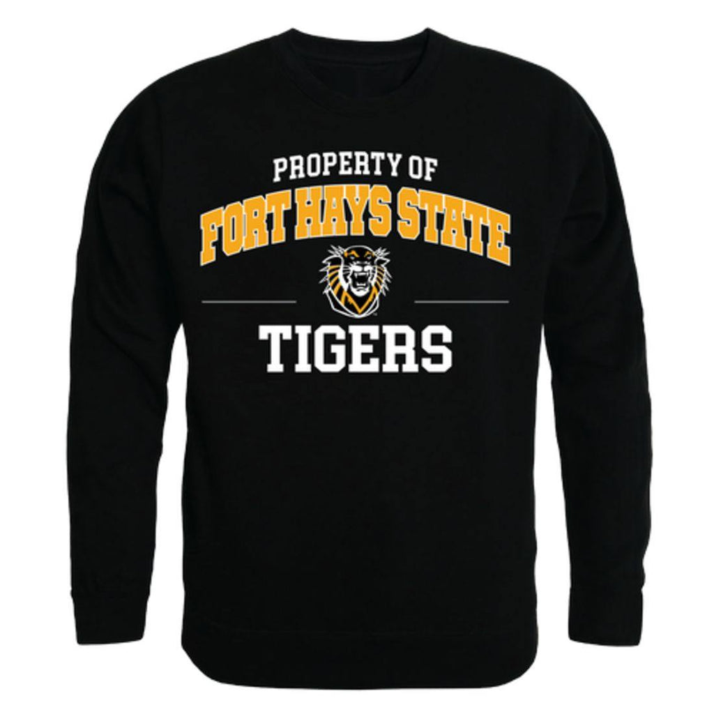 FHSU Fort Hays State University Tigers Property Crewneck Pullover Sweatshirt Sweater Black
