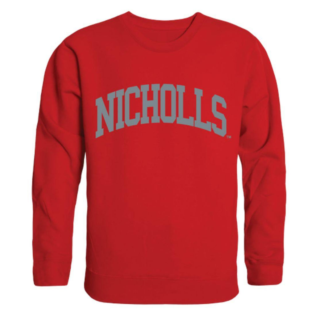 Nicholls State University Colonels Arch Crewneck Pullover Sweatshirt Sweater Red
