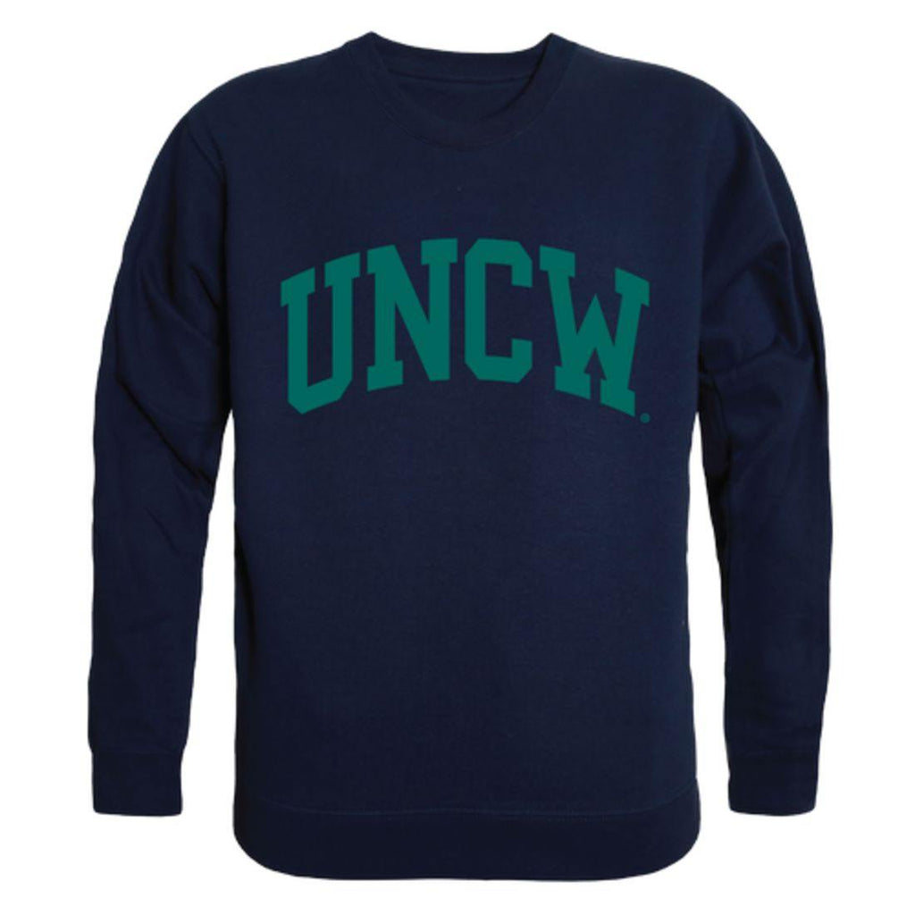 UNCW University of North Carolina Wilmington Seahawks Arch Crewneck Pullover Sweatshirt Sweater Navy