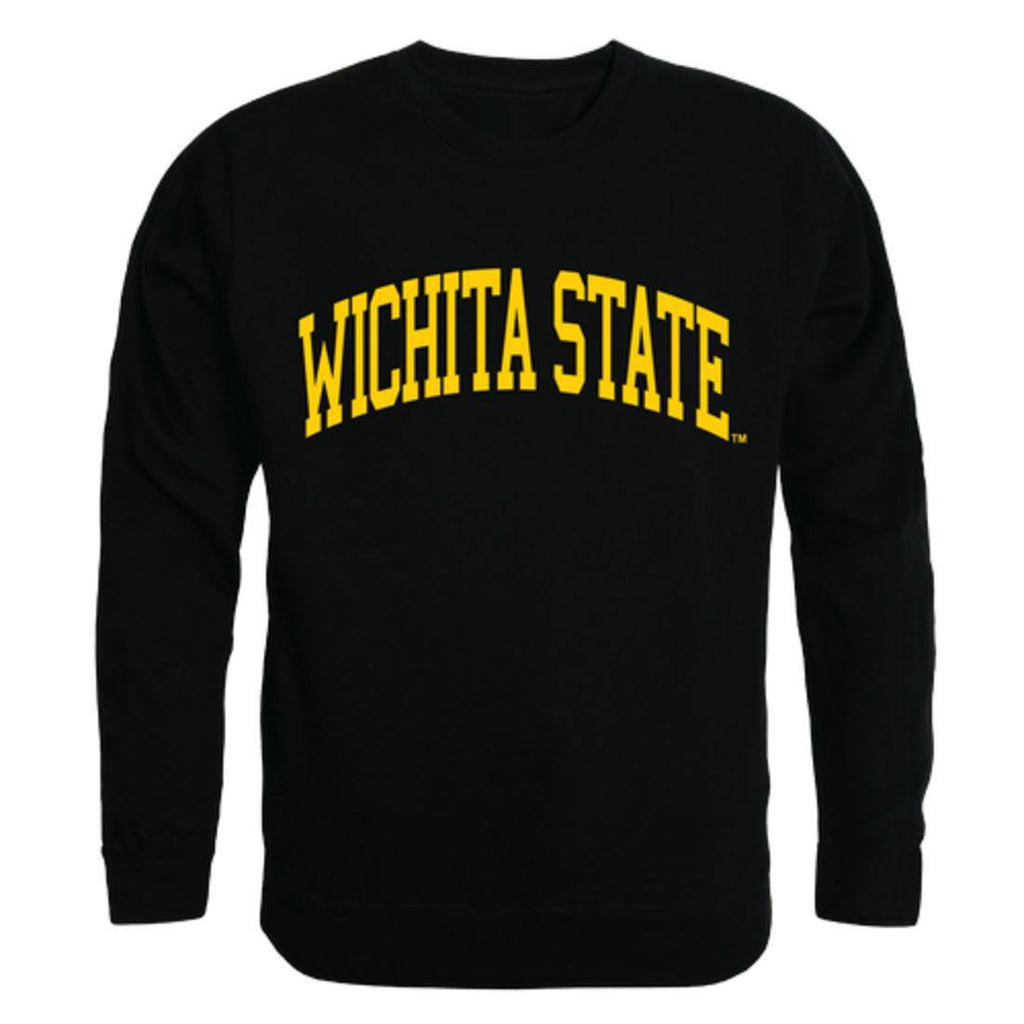 WSU Wichita State University Shockers Arch Crewneck Pullover Sweatshirt Sweater Black