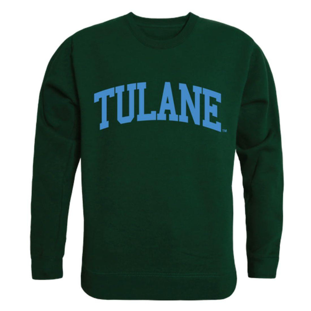 Tulane University Green Waves Arch Crewneck Pullover Sweatshirt Sweater Forest