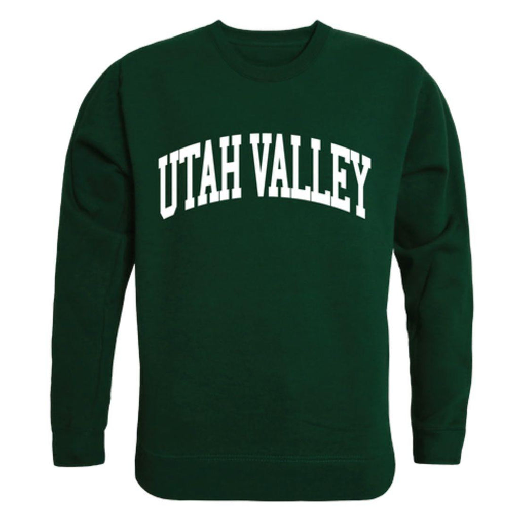 UVU Utah Valley University Wolverines Arch Crewneck Pullover Sweatshirt Sweater Forest