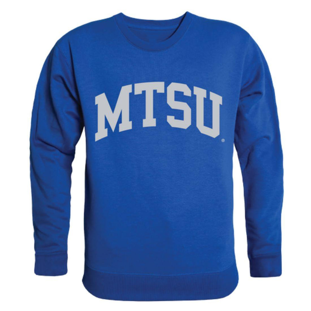 MTSU Middle Tennessee State University Blue Raiders Arch Crewneck Pullover Sweatshirt Sweater Royal