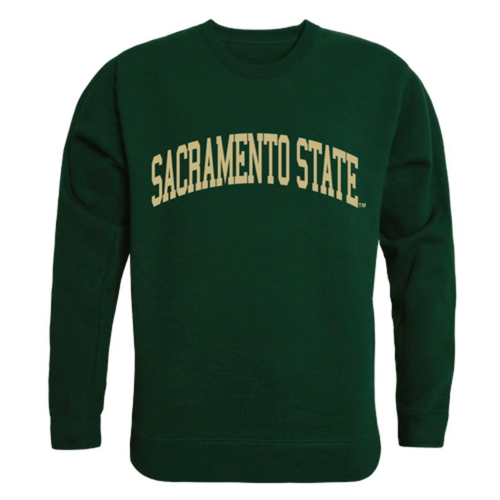 Sacramento State Hornets Arch Crewneck Pullover Sweatshirt Sweater Forest