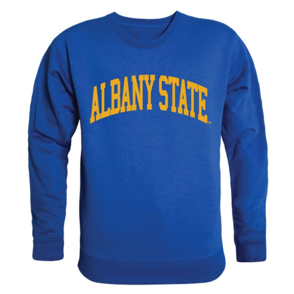 ASU Albany State University Golden Rams Arch Crewneck Pullover Sweatshirt Sweater Royal