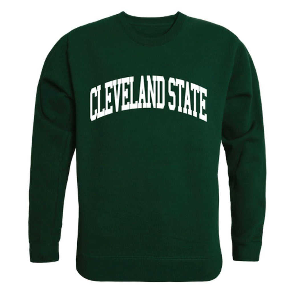 CSU Cleveland State University Vikings Arch Crewneck Pullover Sweatshirt Sweater Forest