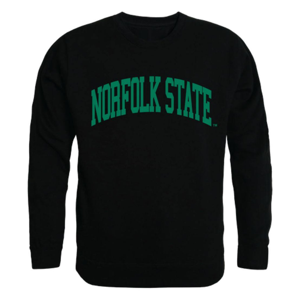 NSU Norfolk State University Spartans Arch Crewneck Pullover Sweatshirt Sweater Black