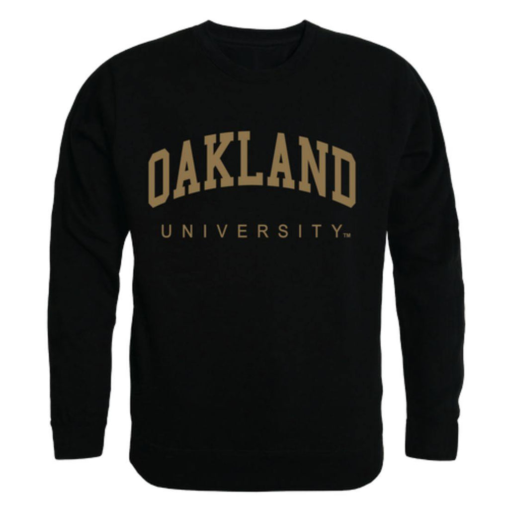 Oakland University Golden Grizzlies Arch Crewneck Pullover Sweatshirt Sweater Black