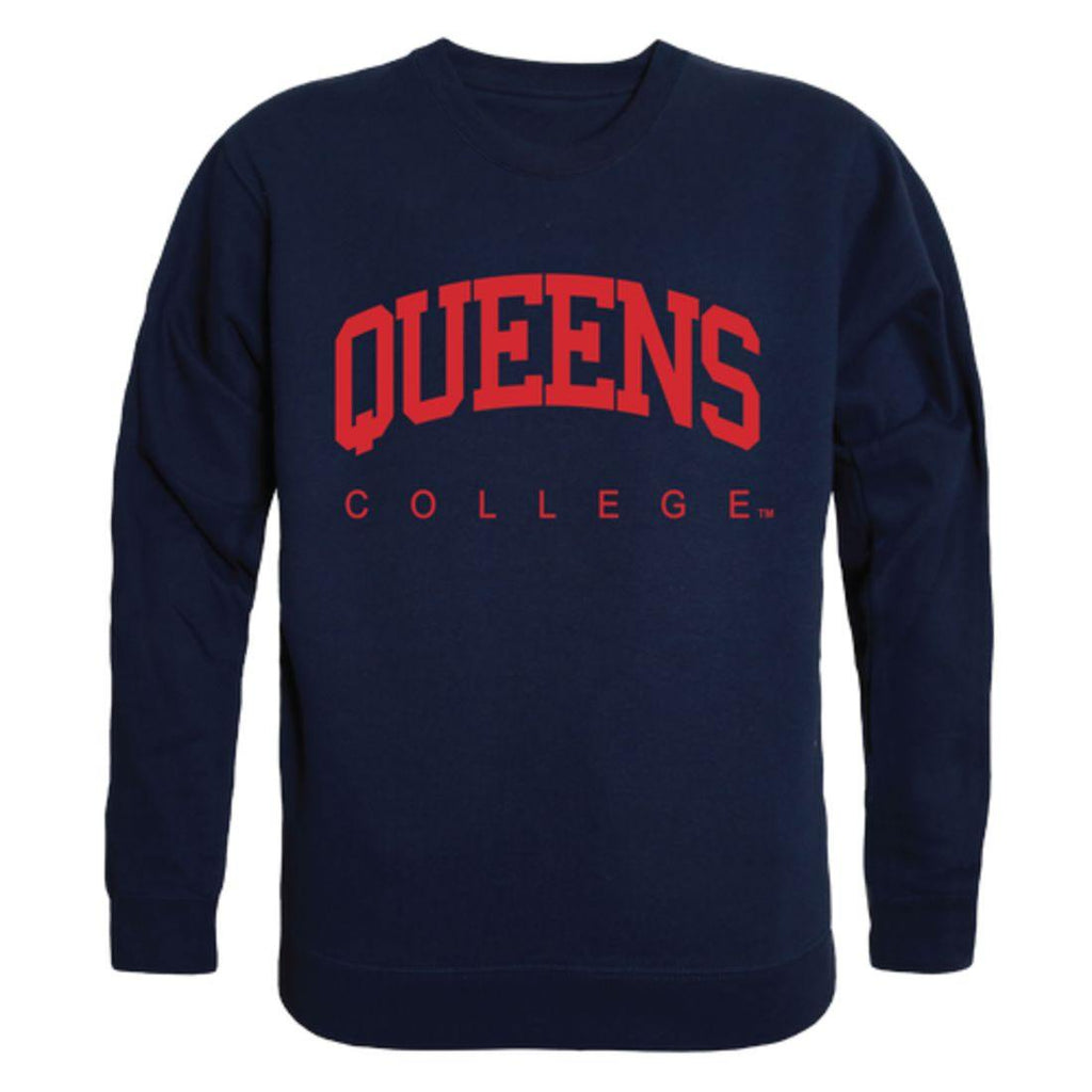 CUNY Queens College Knights Arch Crewneck Pullover Sweatshirt Sweater Navy