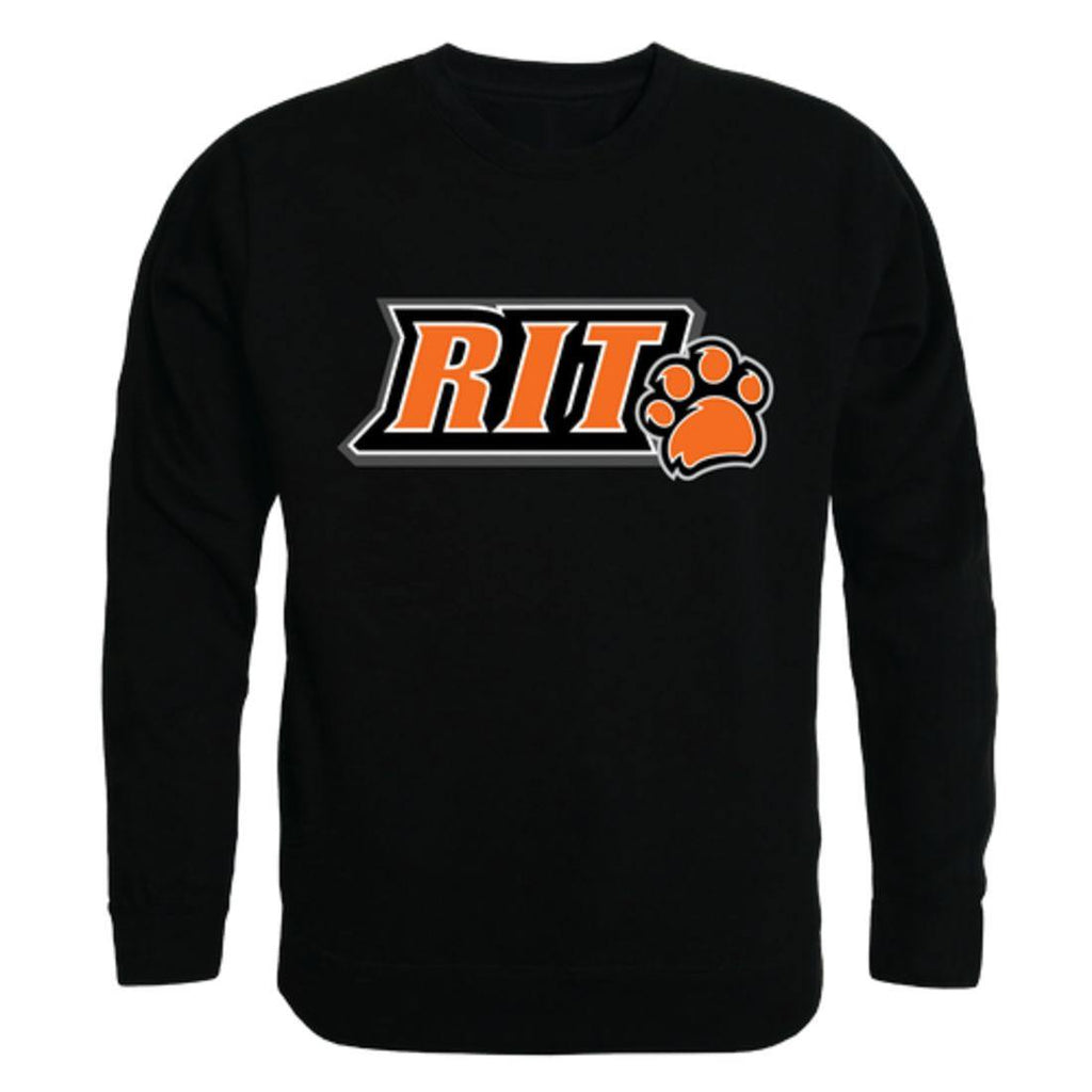 RIT Rochester Institute of Technology Tigers Arch Crewneck Pullover Sweatshirt Sweater Black