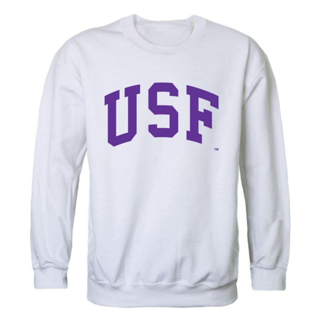 USF University of Sioux Falls Cougars Arch Crewneck Pullover Sweatshirt Sweater White