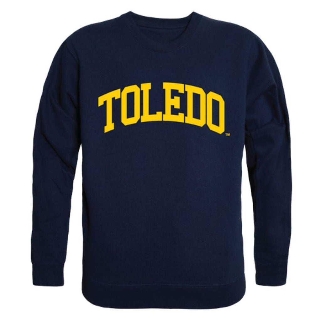 University of Toledo Rockets Arch Crewneck Pullover Sweatshirt Sweater Navy