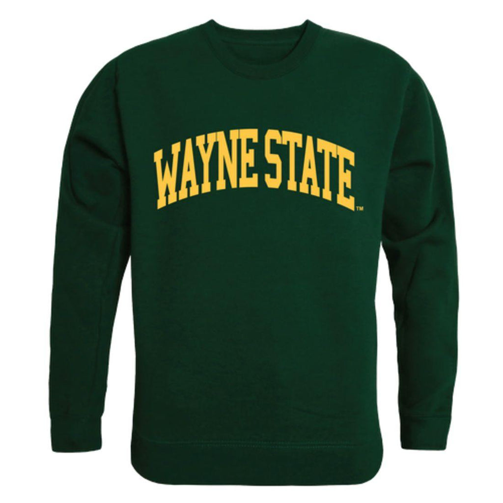 Wayne State University Bears Arch Crewneck Pullover Sweatshirt Sweater Forest