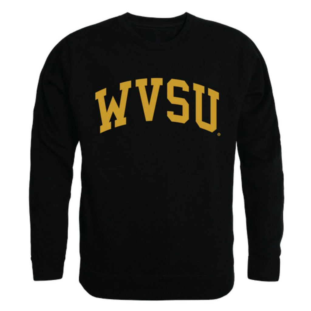 WVSU West Virginia State University Yellow Jackets Arch Crewneck Pullover Sweatshirt Sweater Black