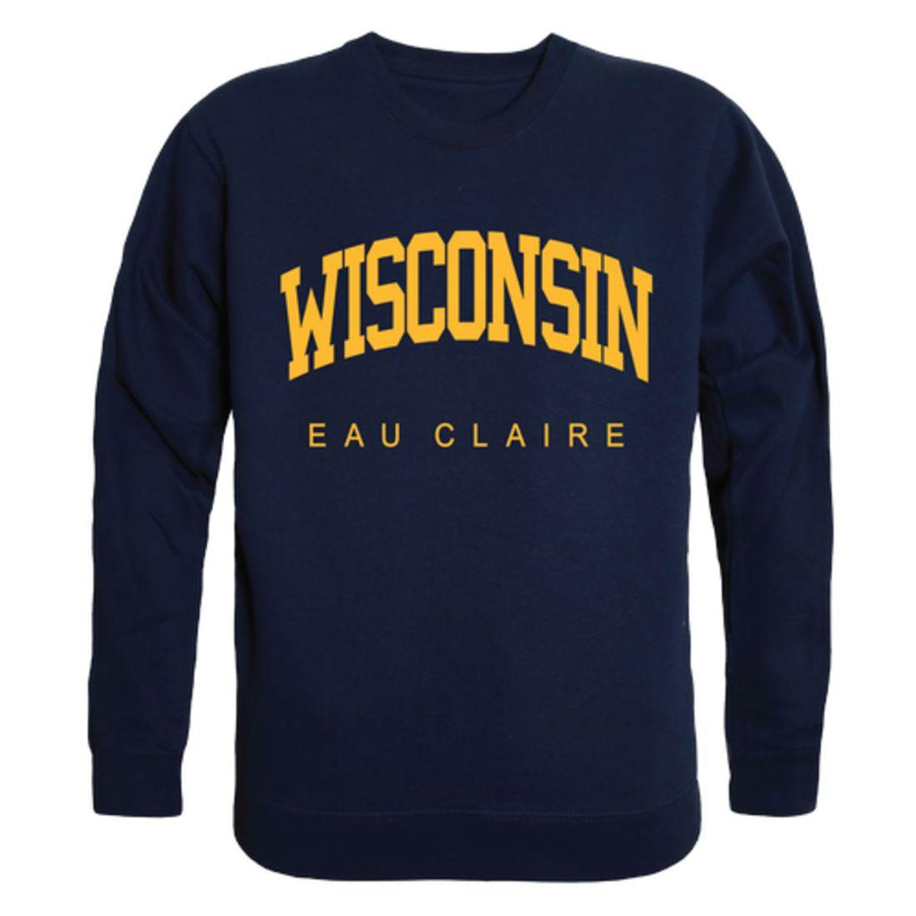 UWEC University of Wisconsin-Eau Claire Blugolds Arch Crewneck Pullover Sweatshirt Sweater Navy