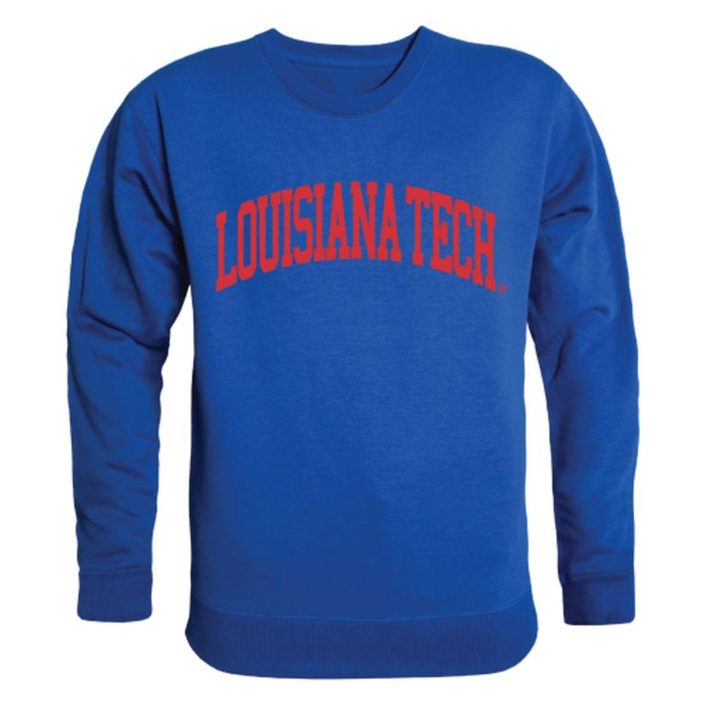 Louisiana Tech University Bulldogs Arch Crewneck Pullover Sweatshirt Sweater Royal
