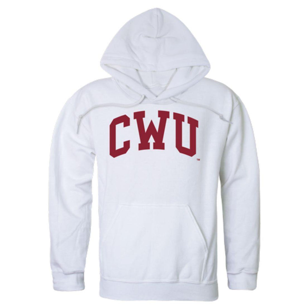 CWU Central Washington University Wildcats College Hoodie Sweatshirt White